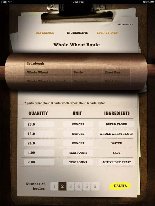 bread baking on iPad
