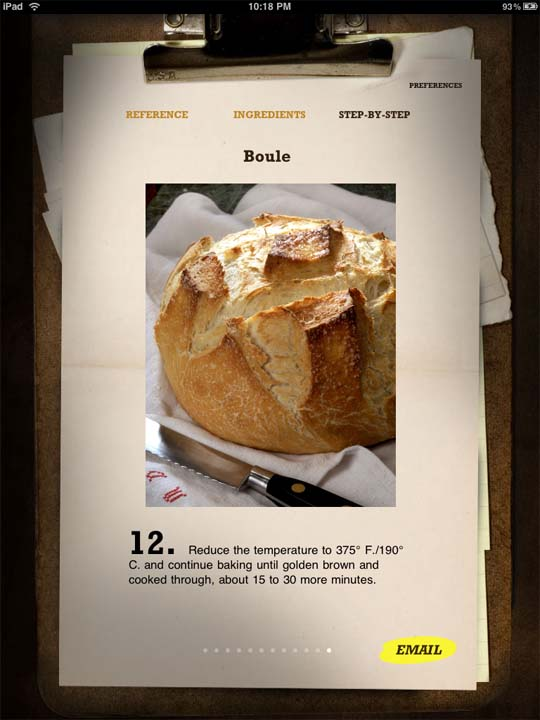 bread baking on iPad