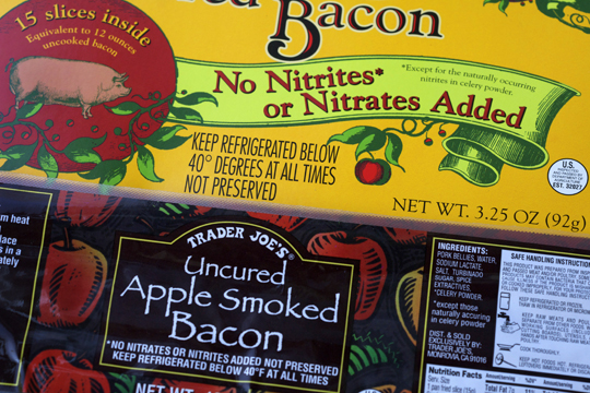 no-nitrite bacon