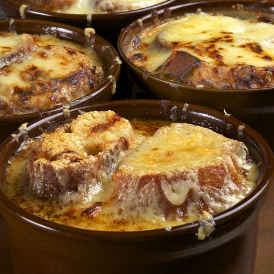 Onion soup, with croutons and melted cheese/Photos by Donna Turner Ruhlman