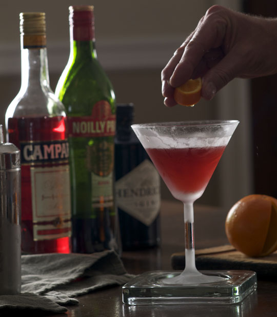 ... favorite cocktail, the Negroni. Photo by Donna Turner Ruhlman