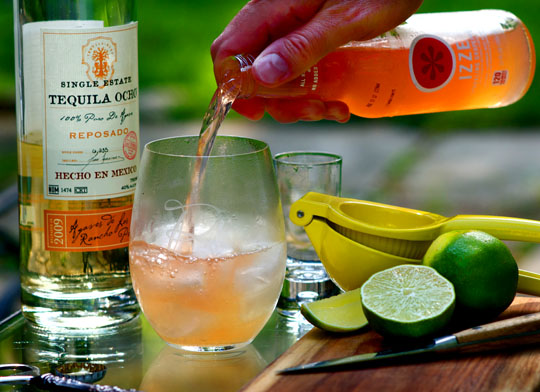 The refreshing Paloma: tequila, lime, grapefruit soda. Photo by Donna Turner Ruhlman.