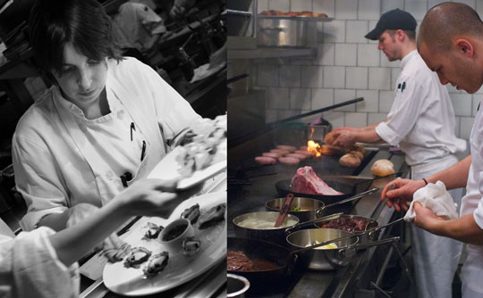 Chefs at work at The Breslin. Photos by Donna Turner Ruhlman.
