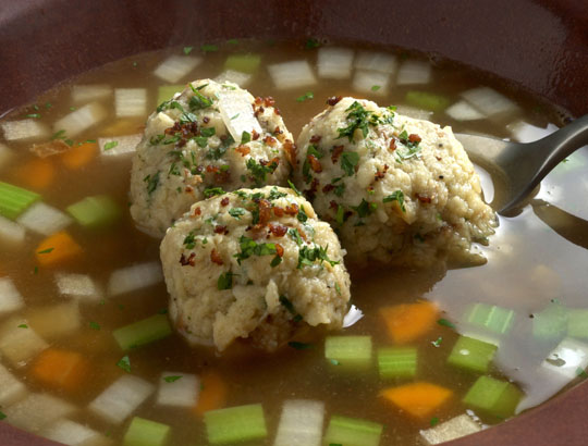 Warms you up. A beautiful bowl of homemade matzo ball soup.  Photo by Donna Turner Ruhlman.