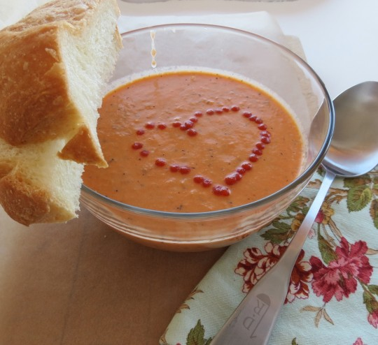 Tomato basil soup. Photo by Carri