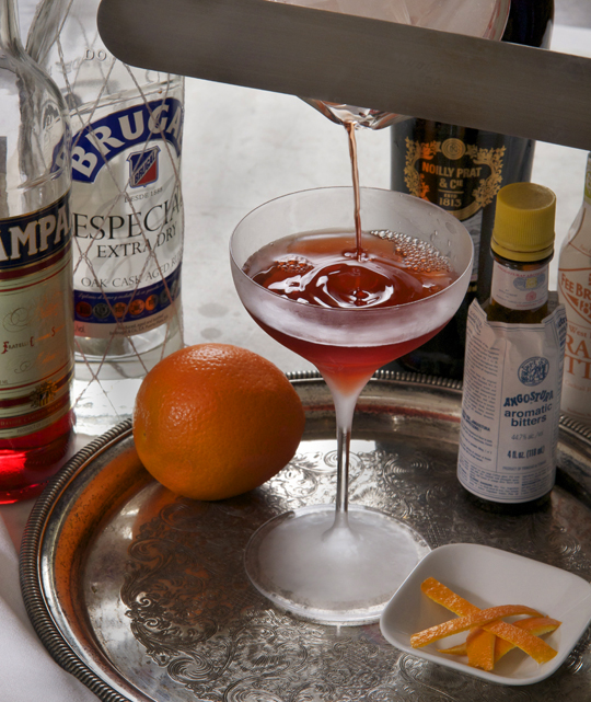 A rum negroni otherwise called A Man About Town. Photo by Donna Turner Ruhlman.