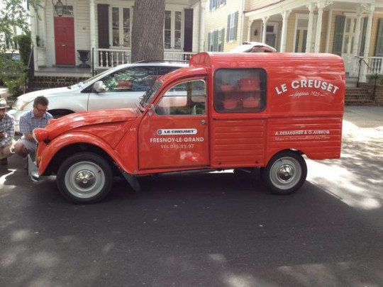 Le Creuset truck on the streets of Charleston, SC.