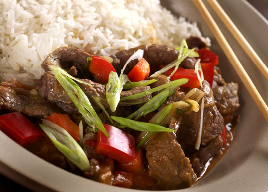 A fast dinner, beef stir-fry. Photo by Donna Turner Ruhlman.