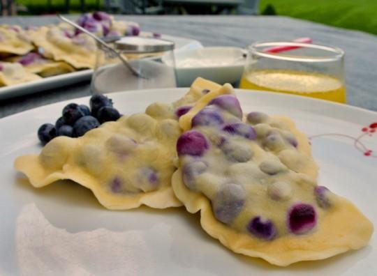 Summer's best blueberry pierogi. Photo by Emilia Juocys