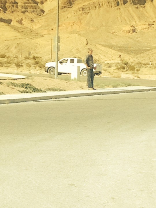 BourdaIn on the side of the road in Las Vegas