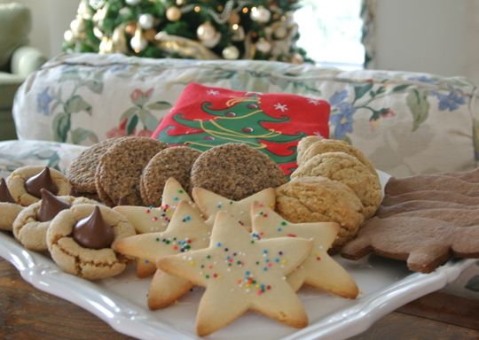 An array of christmas cookies just waiting for folks to nibble on them. Photo by Emilia Juocys.