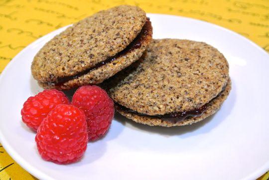 Gluten free linzer cookies.