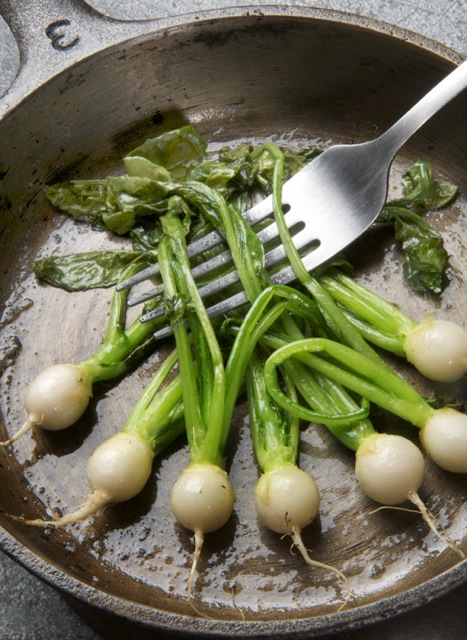 Baby turnips, sautéed in butter. All pix by Donna Turner Ruhlman