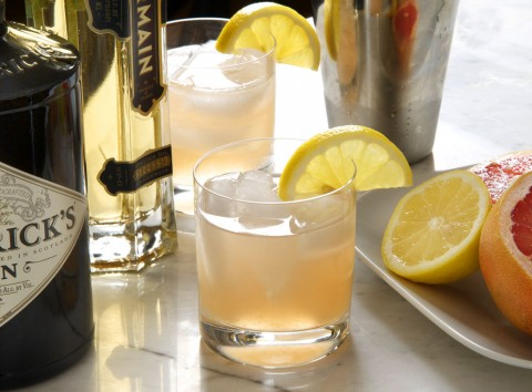 Pamplemousse Vieux Mot, a mixture of gin, St. Germain, and citrus. Photo by Donna Turner Ruhlman.