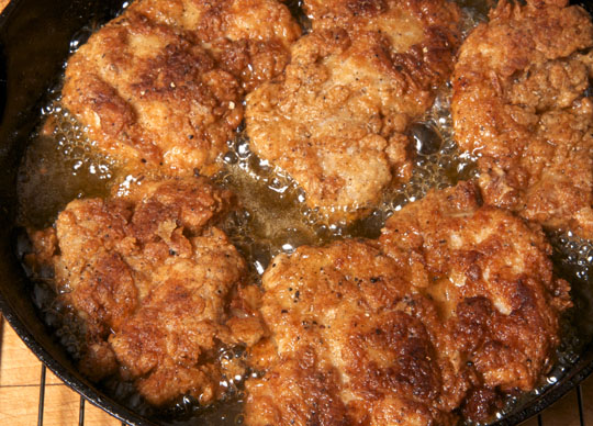 Pan fried chicken thighs. Photo by Donna Turner Ruhlman.