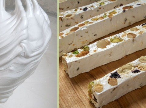 Meringue, whipped with sugar, binds nuts and dried fruit/photos by Donna Turner Ruhlman
