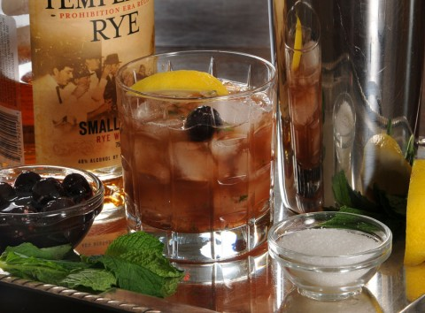 Rye Whiskey Smash/photo by Donna Turner Ruhlman