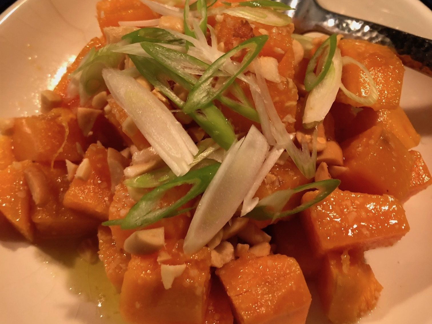 Sweet Potato Confitw/Lime Peanuts Scallions