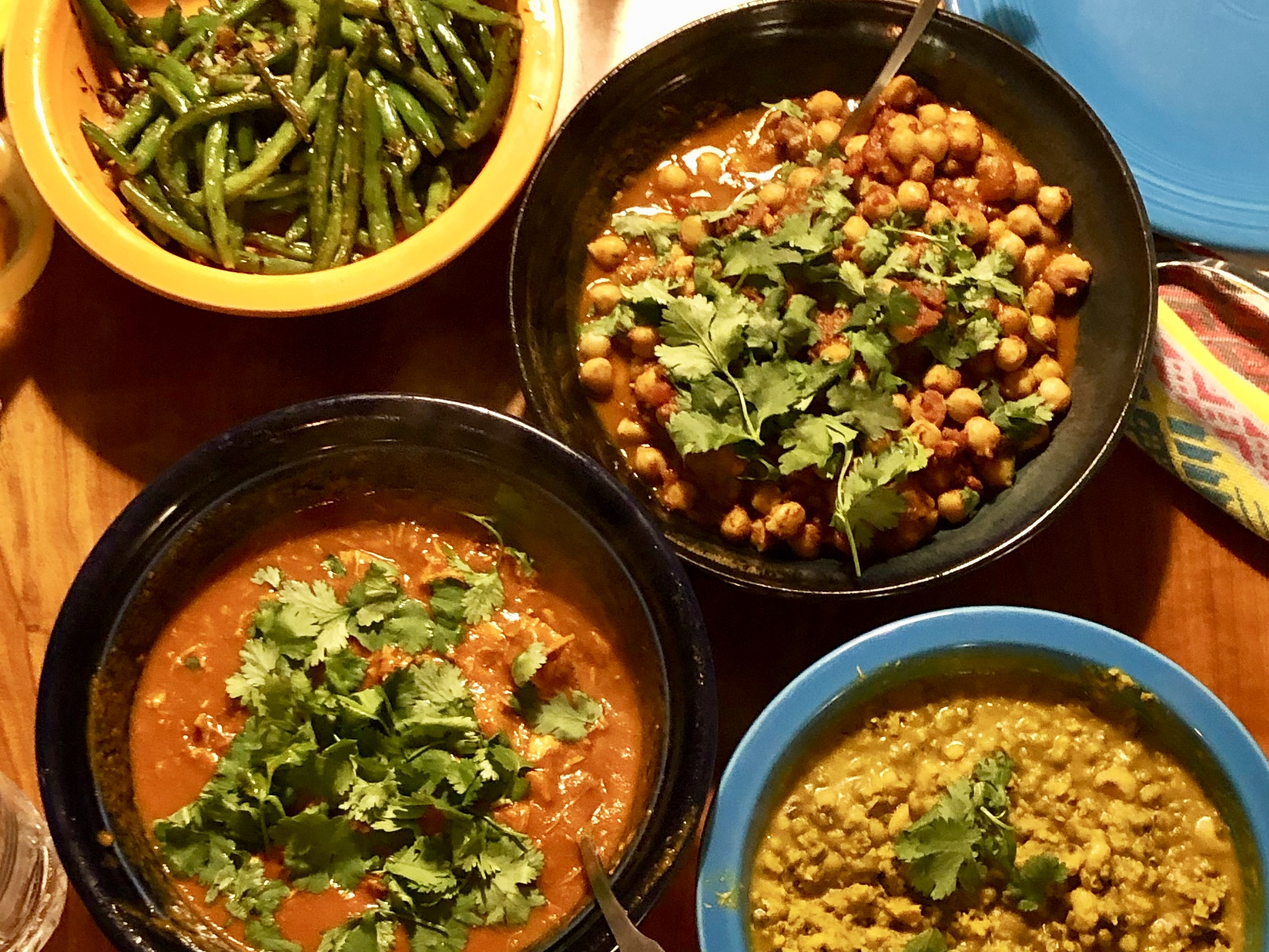 Indian Feast (and practice with the Instant Pot)