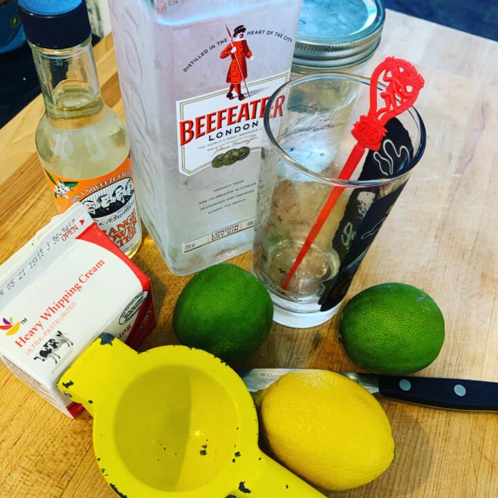 prep for Ramos Gin Fizz